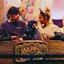 Ariana Grande with friends at Disneyland in Anaheim - 454 x 303