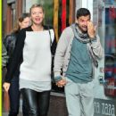 Maria Sharapova and Grigor Dimitrov hold hands during 2013 Wimbledon first rounds