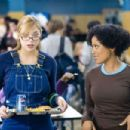 The naive Megan (Shoshana Bush, left) learns some of the ropes from the more savvy Charity (Essence Atkins, right) in the comic spoof 'Dance Flick.' Photo Credit: Glen Wilson. Copyright ©2009 by PARAMOUNT PICTURES CORPORATION. All Rights Reserved.