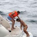 Ann-Kathrin Brommel and Anna Sharypova in Bikini on holiday in Mallorca - 454 x 600