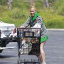 Paula Patton in Denim Shorts – Shopping in Malibu
