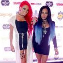 Heidi Shepherd and Carla Harvey of Butcher Babies attend the Metal Hammer Golden Gods awards on June 15, 2015 in London, England - 454 x 682