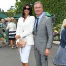Wimbledon 2019: David Coulthard and glamorous wife Karen put on a stylish display as they take their places in Centre Court's Royal Box - 454 x 670