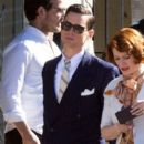 Matt Bomer- February 11, 2016-on the Set of 'The Last Tycoon