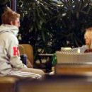 Selena Gomez and Justin Bieber at the Montage hotel in Beverly Hills