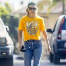 Ali Larter – In denim out for a walk in Pacific Palisades