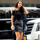 Adriana Lima – Making her arrival to the Victorias Secret Office for her fitting