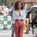 Megalyn Echikunwoke – Arrives at AOL Build Speaker Series in New York - 454 x 696