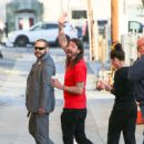 Dave Grohl is seen at 'Jimmy Kimmel Live' in Los Angeles, California - 450 x 600