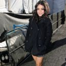 Vanessa Hudgens arrives at the Yigal Azrouel Show during New York Fashion Week. February 16, 2011 NYC (2)