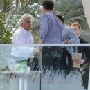 Jay Leno spotted out with friends at the Fontainebleau Hotel in Miami, Florida on January 21, 2015