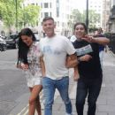 Danielle Lloyd and her husband Michael O'Neill – Seen at Sexy Fish in Mayfair - 454 x 585