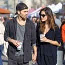 Phoebe Tonkin and Paul Wesley hold hands out in Studio City - 454 x 600