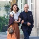 Katie Holmes and Patrick Stewart out in Montreal - 454 x 681