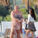 Gemma Collins in bikini enjoying the sun in Saint Tropez - 454 x 576