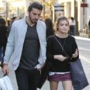Lucy Hale  spotted out shopping at The Grove in Los Angeles, California on March 31, 2016 - 454 x 544