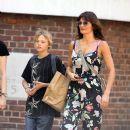 Helena Christensen: shopping with her son Mingus in Soho