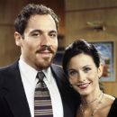 Courteney Arquette and Jon Favreau