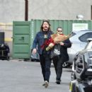Dave Grohl is seen leaving 'Jimmy Kimmel Live' in Los Angeles, California - 454 x 340