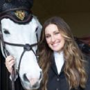 Jessica Springsteen with her horses