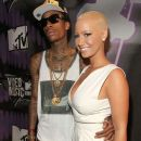 Amber Rose and Wiz Khalifa Attend the 28th Annual MTV Video Music Awards at the Nokia Theatre L.A. Live in Los Angeles, California -  August 28, 2011 - 385 x 594