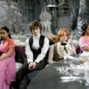 "SHEFALI CHOWDHURY as Parvati Patil, DANIEL RADCLIFFE as Harry Potter, RUPERT GRINT as Ron Weasley and AFSHAN AZAD as Padma Patil in Warner Bros. Pictures' fantasy ""Harry Potter and the Goblet of Fire."" Photo: Murray Close"
