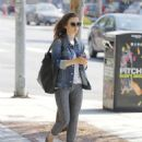 Lily Collins feeding the parking meter in Beverly Hills - 454 x 555