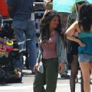 Salma Hayek – On the set of 'Bliss' in Los Angeles