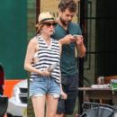 Couple Diane Kruger and Joshua Jackson spotted out and about in New York City, New York on July 8, 2015 - 393 x 600