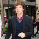 'The Rolling Stones' frontman Mick Jagger seen leaving the Carlyle Hotel in New York City, New York on May 7 2012