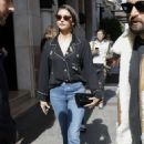 Nina Dobrev – Leaves George V hotel in Paris