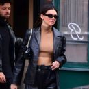 Kendall Jenner – In black leather out in NYC