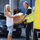 Caprice Bourret – Seen while donating Goods to Charity in Londonorum