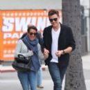 Cory Monteith and Lea Michele: have breakfast at the Swingers diner