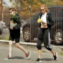 Kristen Stewart and Stella Maxwell – Picks up a Bonsai tree in Los Feliz