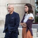 Katie Holmes and Patrick Stewart out in Montreal - 454 x 683