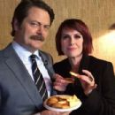 Megan Mullally and Nick Offerman - 454 x 303