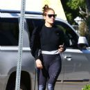 Jennifer Lopez – Arrives to a workout in Los Angeles
