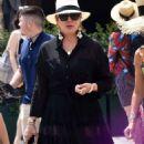 Kris Jenner in Black Dress on holiday on Portofino - 454 x 846