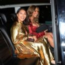 Vanessa White and Munroe Bergdorf – Leaving Pat McGrath Party in London - 454 x 595