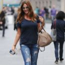 Lisa Snowdon In Ripped Jeans Out In London