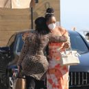 Jordyn Woods with her mother and sister at Nobu in Malibu - 454 x 681