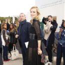 Eva Herzigova – Arrives at the Christian Dior Fashion Show in Paris - 454 x 674