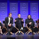 Caitriona Balfe, Sam Heughan, Tobias Menzies, Ronald D. Moore and Diana Gabaldon - March 12, 2015-Inside the PALEYFEST 'Outlander' Panel - 454 x 308
