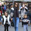 Alessandra Ambrosio Takes Her Kids to the Santa House at The Grove - 454 x 588