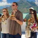 Jon Favreau, Kristen Bell, Jason Bateman, Kristin Davis and Faizon Love in the scene of Universal Pictures' Couples Retreat.