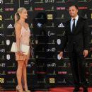 Oscar Pistorius and Reeva Steenkamp - 454 x 485