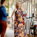 Diane Kruger in Flower Maxi Dress – Out in New York