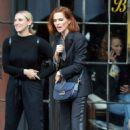 Zoey Deutch in a tuxedo suit in downtown Manhattan - 454 x 682
