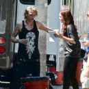 Lily Collins on the set of 'The Mortal Instruments: City of Bones' (August 24)
